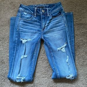 American Eagle Super Super Stretch Lightwash Jeans